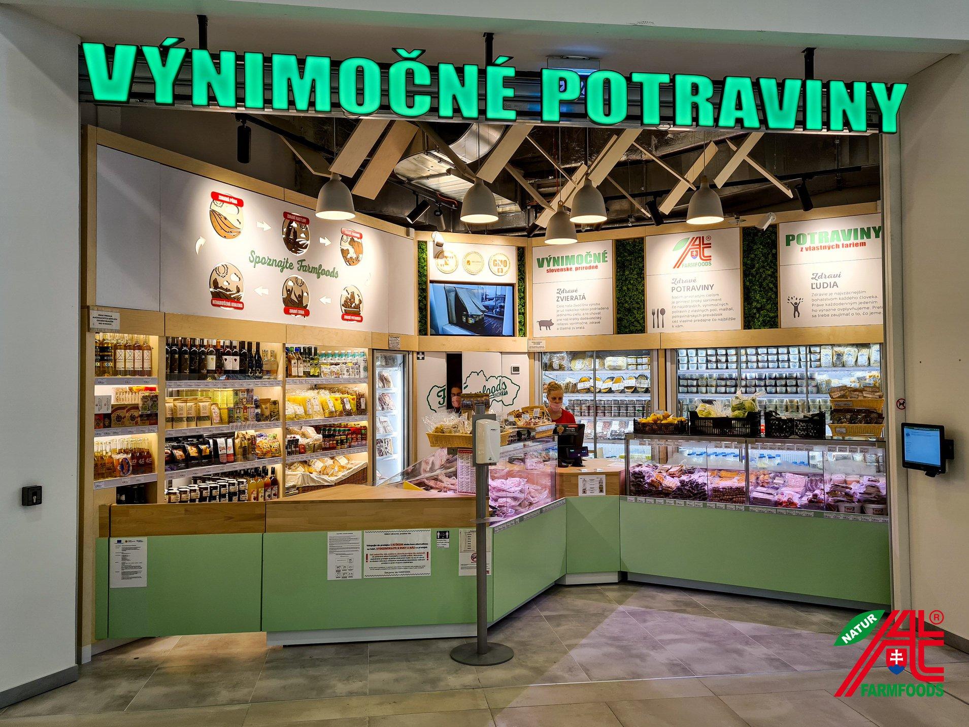 Predajňa Farmfoods Bratislava OC VIVO!